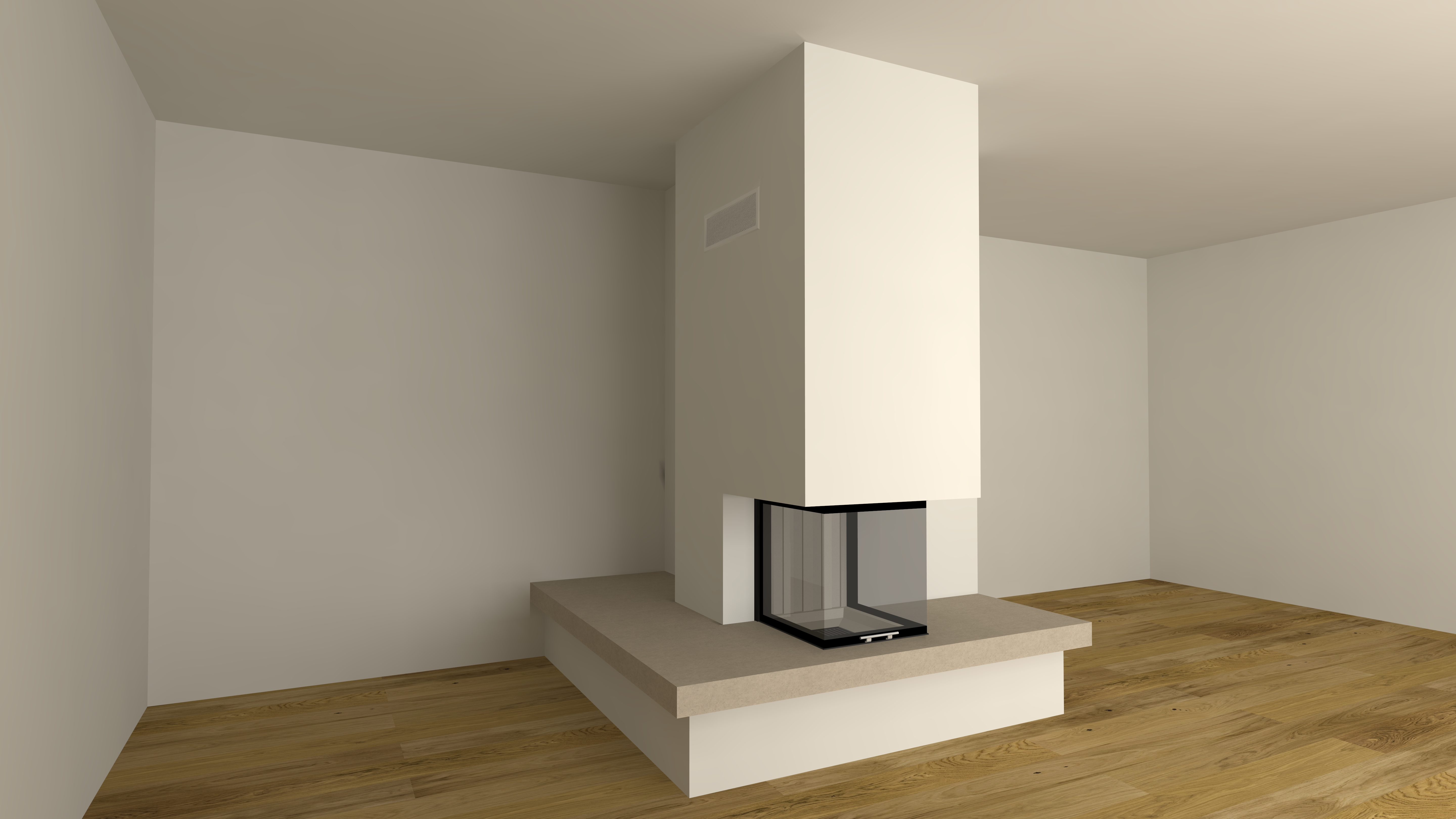 dreiseitiger kamin a 40 3 mit spartherm mit montage www. Black Bedroom Furniture Sets. Home Design Ideas